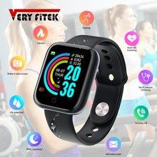 Smart watch d20 pro y68, relógio esportivo com monitoramento de frequência cardíaca e pressão sanguínea, pulseira inteligente para android e ios