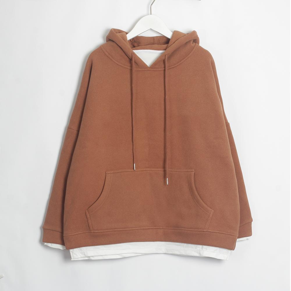 Wixra Women Casual Sweatshirts Warm Velvet Long Sleeve Oversize Hoodies Tops 2019 Autumn Winter Pullover Tops 17