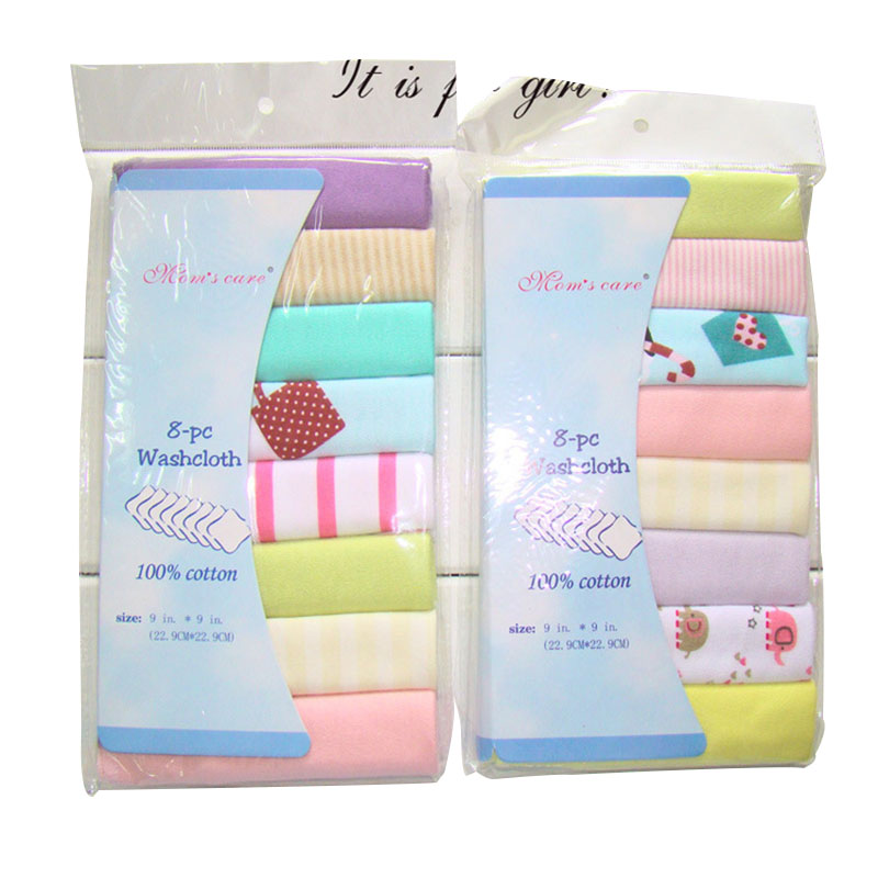 8pcs/pack 100% Cotton Newborn Baby Towels Saliva Towel Nursing Towel Baby Boys Girls Bebe Toalha Washcloth Handkerchief