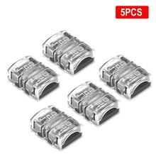 5pcs 2/3/4/5pin Waterproof Connector 12V 6 Pin Connectors For 2835 3528 RGB RGBW LED Strip Light Wire Terminals Splice Connector