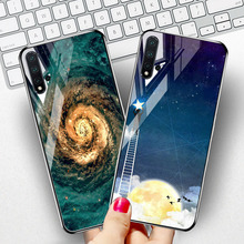 Luxury Tempered Glass Case for Huawei Nova 5i 5 Cases Star Space Silicone Phone Honor 9 Lite Covers Fundas Capa