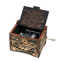 Новая резная ручная деревянная музыкальная шкатулка, черная музыкальная шкатулка, вы мой солнечный свет, чтобы влюбиться в дочь, в подарок на день рождения, подарок на год