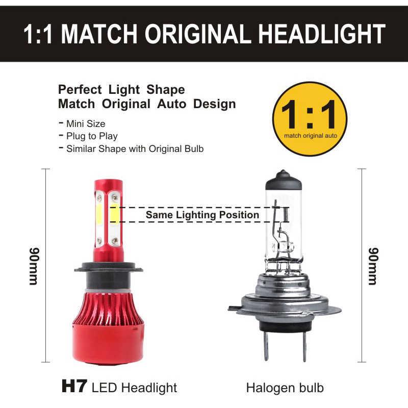 4-SIDE Car LED Headlight 12000LM LED H7 H4 H8 H9 H11 H13 9005 9006 9012 9003 9004 9007 5202 Head Light Bulbs Headlamp