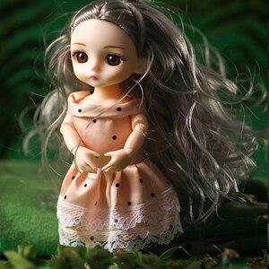 BJD куклы для девочек с париком, одежда, наряд, обувь, 16 см куклы, 1/12 Игрушки для девочек, 13 подвижных шарнирных шарниров, кукла bjd, милый подарок...