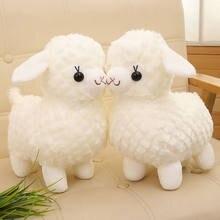 Brinquedos de boneca pequenas ovelhas macio recheado & animais de pelúcia engraçado boneca simulação de cordeiro para crianças presentes