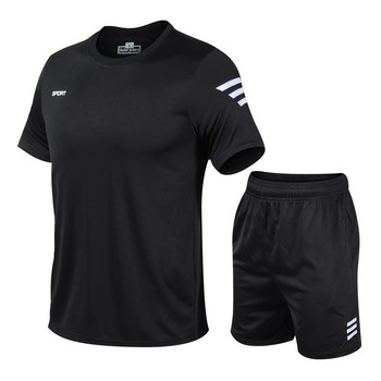 2 Pcs/Set Men's Tracksuit Gym Fitness badminton Sports Suit Clothes Running Jogging Sport Wear Exercise Workout set sportswear 3pcs set men s gym workout sports suit fitness compression clothes running jogging sport wear exercise workout tights