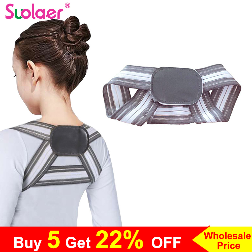 SOULAER Posture Corrector Belt Made of Breathable and Fully Elastic Fabric for Adults and Kids to Correct Body Shape Helps in Relieving Body Pain 2