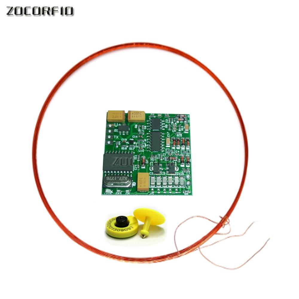 125KHZ 134.2K Animal Tag Reader Module TTL Output AGV RFID FX-B ISO11784 Long Distance+2 Tags