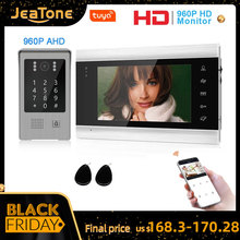 Jeatone 960P Tuya WiFi IP וידאו דלת טלפון וידאו אינטרקום קוד לוח מקשים/RFID כרטיס/אפליקציה לפתוח תנועה זיהוי בקרת גישה ערכות