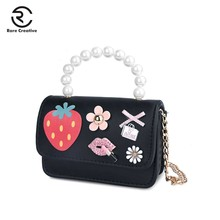 купить RARE CREATIVE Crossbody Bags For Women Lovely Fruit Messenger Bags Small children Handbags Pearl Mini PU Leather Flap Bag PS8031 по цене 928.12 рублей