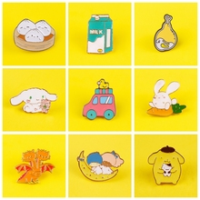 Cute Cartoon Badges for Backpack Badges for Clothes Lovely Animal Enamel Pins for Backpacks Clothes Lapel Pin Badge Jewelry Gift leisurely cute cats badges for clothes animal enamel pins for backpacks clothes lapel pin badges for backpack badge jewelry gift