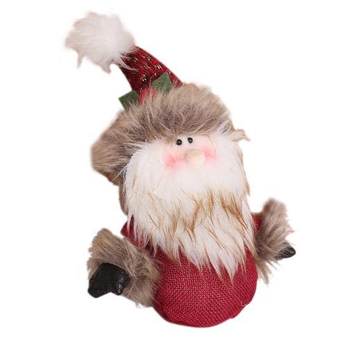 Хит, 30 стилей, рождественские украшения для дома, Рождественские куклы, елочные украшения, инновационная декорация с лосем, Сантой, снеговиком - Цвет: E 20x12cm