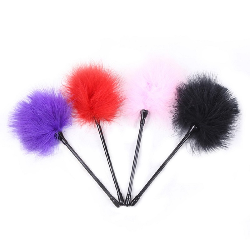4 Colors Bird Feather Flirt Whip Flogger Bondage Slave Erotic Flirting Clit Tickler Spanking Sex Toy For Couples Adult Game