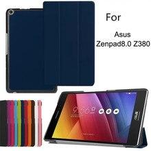 Трехслойный Магнитный смарт-чехол из полиуретановой кожи для Asus Zenpad 8,0 Z380 Z380C Z380KL 8 дюймов флип-стенд Роскошные Чехлы для планшетов