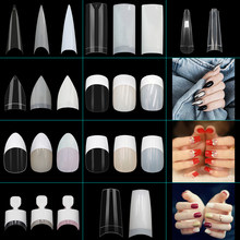 Stiletto Nail Hot French Ballerina Coffin Rounded Square False Nail Tips Manicure Fake Nail Tips 100 PCS 200 PCS 500PCS(China)