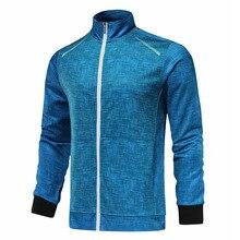 Мужская и женская спортивная куртка с длинным рукавом, унисекс, для бадминтона, теннисного матча, тренировочная куртка на молнии, для бега, командная игра, спортивная одежда