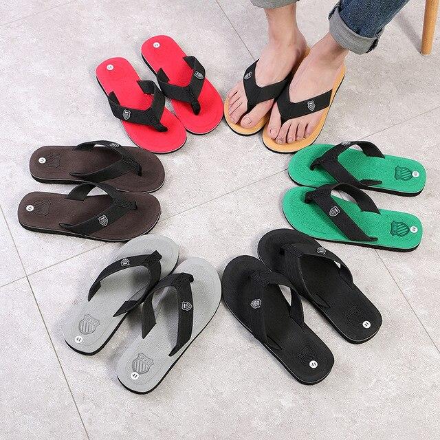 Men Summer Flip Flops Beach Sandals Anti-slip Casual Flat Shoes High Quality Slippers Zapatos Chanclas De Hombre Chaussure Homme 1