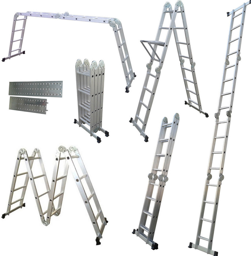 Wholesale Manufacturers Direct Selling Aluminum Ladder Multi-functional Trestle Ladder Aluminium Alloy Folding Ladder Joints Hei