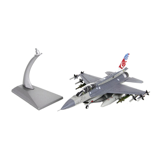 USA F-16D Fighter Aircraft 1:72 Fighting Falcon Die-cast Display Model with Stand for Decoration or Gift