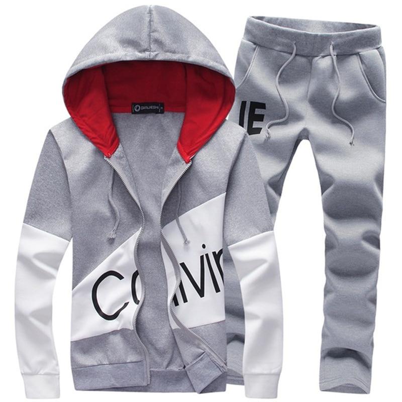 Men Tracksuit Clothing 2 Sets Piece Men Set Sport Outfit SweatSuits Hoodies & Long Pants Track 5XL Large Size Tracksuit Men Set