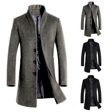 Winter Men's Coat 5xl Solid Color Casual Outwear Business St
