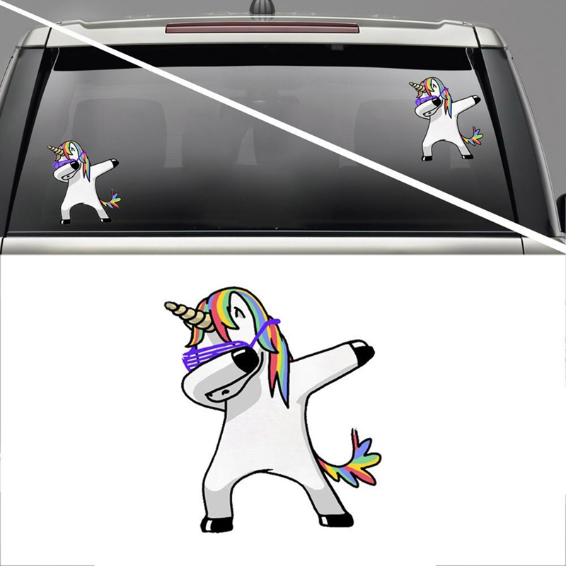 1 Piece Lovely Unicorn Car Sticker Styling Cartoon Decals Vinyl Waterproof Funny Car Styling Decals Car Accessories