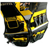 Stanley Fatmax multi pocket vest for tools in black yellow reflective safety strip adjustable strap workwear men work tool vests 2