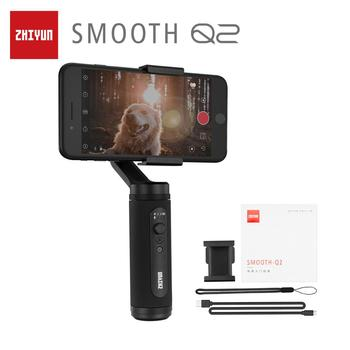 ZHIYUN Official SMOOTH Q2 Phone Gimbal 3-Axis Pocket-Size Handheld Stabilizer for Smartphone iPhone Samsung HUAWEI Xiaomi Vlog zhiyun smooth 4 3 axis handheld gimbal stabilizer for smartphone iphone xs x 8p 8 7 6s se samsung s9 s8 s7 with charging cable