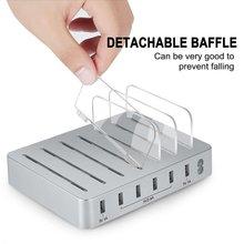 Многофункциональное зарядное устройство для быстрой зарядки Usb зарядное устройство 6 портов док-станция поддержка для всех телефонов/столов/смарт-часов/банка питания