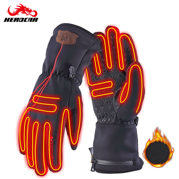 savior heating gloves thickened battery heating warm outdoor gloves motorcycle gloves shatter resistant gloves shell Masontex Winter Motorcycle Gloves Heating Guantes Moto Gloves USB Electric Heated Gloves With Battery For Skiing Riding M-2XL