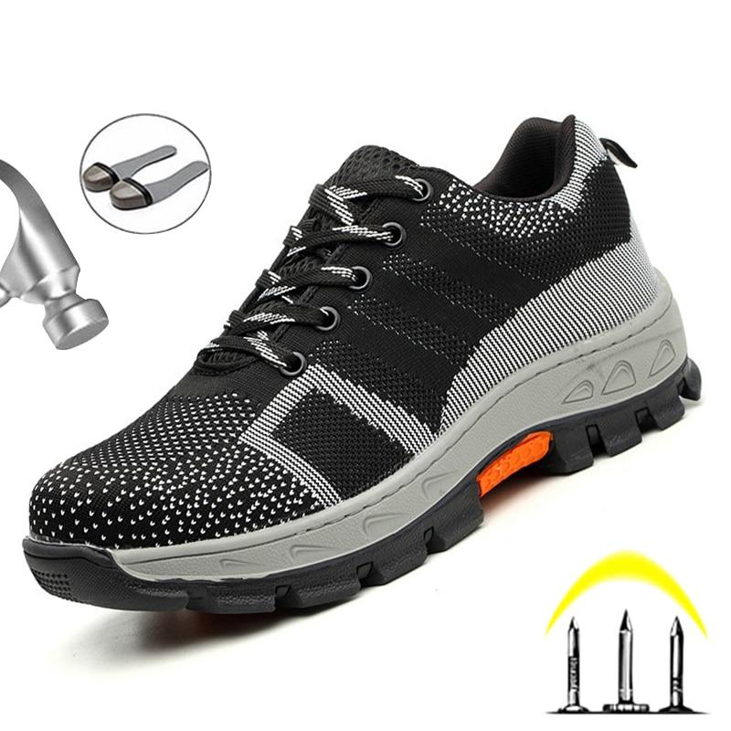 New Men Boots Safety Shoes Men Steel