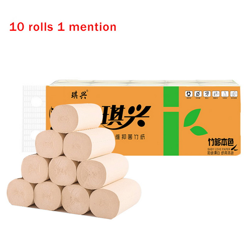 10 Roll Toilet Paper Towels White Rolls Toilet 3 Layers Replacement Roll Paper Home Bath Toilet Roll Paper Supplies Decor Tissue