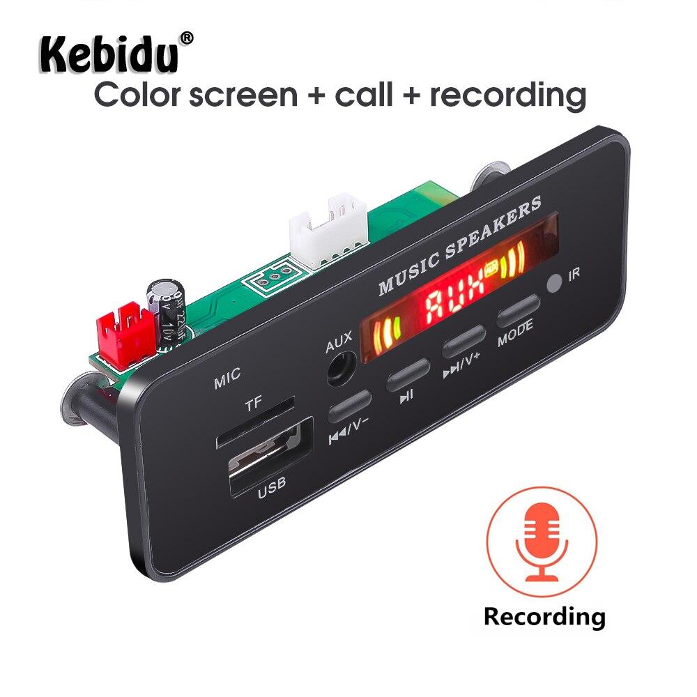 Беспроводной MP3 декодер Kebidu, Bluetooth 5,0, 12 В, плата, дистанционное управление, плеер, свободные руки, FM, AUX, TF-карта, SD Модуль с микрофоном, автомоби...