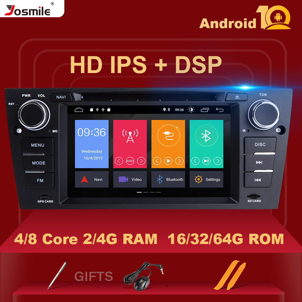 Android 10 IPS DSP 8 Core 4 GB RAM 1 Din Car Radio DVD Player For BMW E90/E91/E92/E93 Multimedia Navigation Stereo OBD2 Carplay image