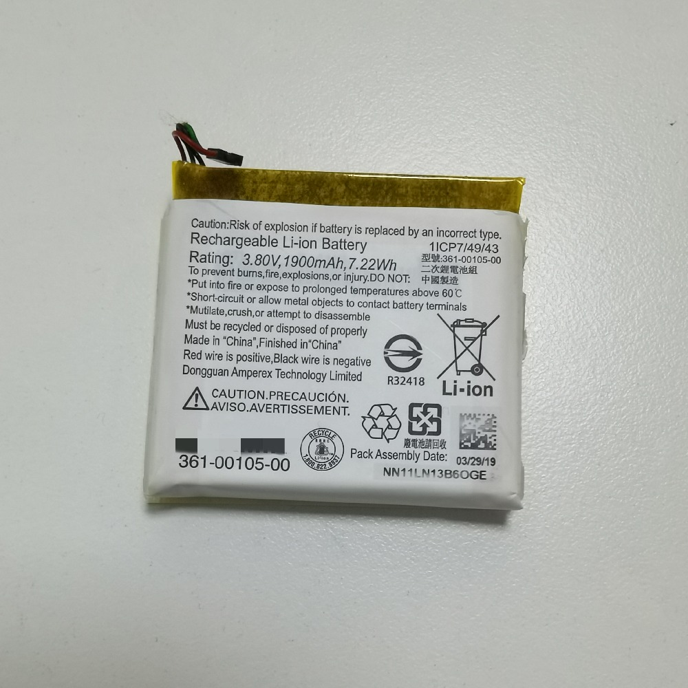 Bateria original 1030-1900-00 do li-íon da bateria