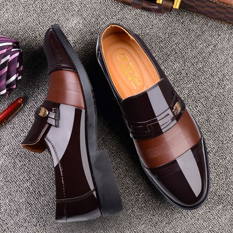 2020 Spring Men's Business Dress Leather Shoes  For  Dropshipping