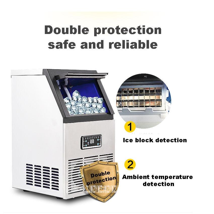 Commercial High-power Bar KTV Home Automatic Ice Machine Size Tea Shop  Ice Machine 220V/110V 200W SK-40FF