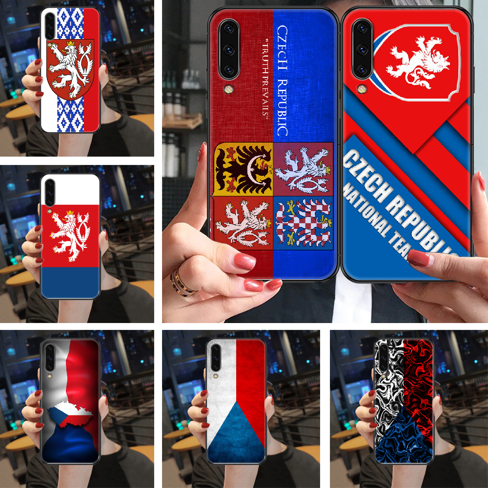 Чехол с флагом Чехии для телефона Samsung Galaxy A 3 5 7 8 10 20 21 30 40 50 51 70 71 E S 2016 2018 4G black art funda