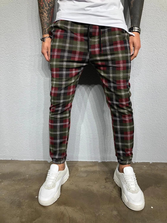 Men's Plaid 3D Digital Print Casual Gradient Fashion Sport Pants For Spring/autumn 2019 Hot Men's Sweatpants