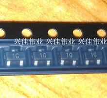 100pcs originais/BC847C 1G 0.1A/45V SOT23