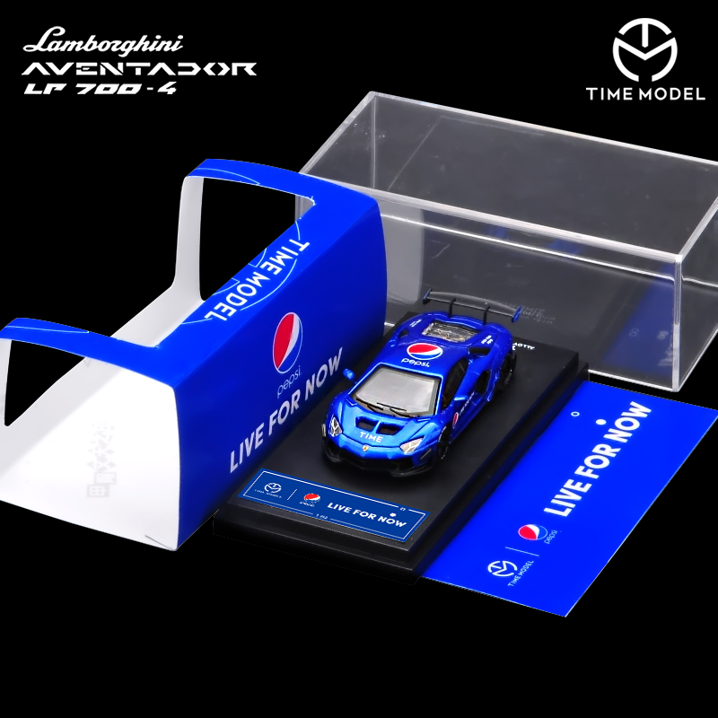 Time Model 1/64 LB LP700 Aventador 3 Types Wide Body Sports Fashion Blue Theme Model Car Supercar Vehicle With Case