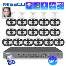 MISECU Ai système intelligent 5MP 16CH POE CCTV sécurité NVR Kit humain/visage détecter système de Surveillance de caméra IP extérieur Audio bidirectionnel