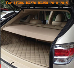 Car Rear Trunk Security Shield Cargo Cover Fits For LEXUS RX270 RX350 2010 2011 2012 2013 2014 2015( black, beige)