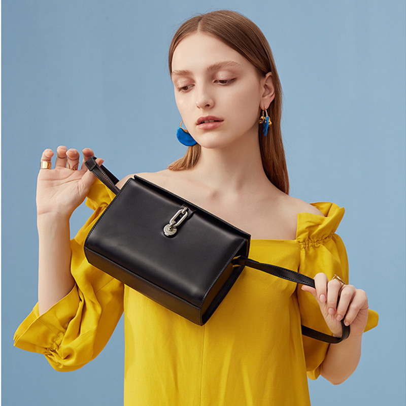 Vento Marea Crossbody Luxury Phone Bag Black Female Box Handbags 2019 Chic Lock Women Messenger Bag