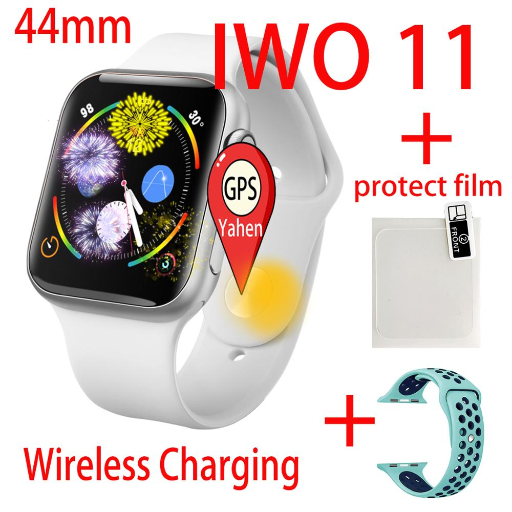 iwo 11 smart watch Man GPS Wireless charger heart rate Smartwatch 44mm for Apple iOS Android phone Update IWO 9 IWO8 Women Watch image