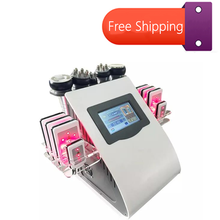 5in1 Ultrasonic Liposuction 40K Cavitation Vacuum Multipolar bipolor RF laser Slimming radio frequency SKIN BODY SALON MACHINE vacuum rf skin care salon spa equipment 40k ultrasonic liposuction cavitation 8 pads