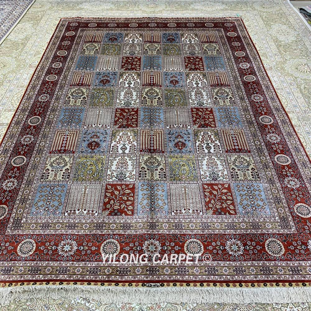 Yilong 6'x9 'градински дизайн кашмир килим - Домашен текстил - Снимка 3