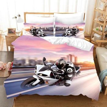Wyścigi motocykli komplety pościeli 2 3 sztuka motocykl kołdra pokrywa Extreme Sport komplet pościeli królowa duży rozmiar kapa na kołdrę tekstylia domowe tanie i dobre opinie Brak Zestawy Kołdrę CN (pochodzenie) Tkanina z mikrofibry 1 0 m (3 3 stóp) 1 2 m (4 stóp) 1 35 m (4 5 stóp) 1 5 m (5 stóp)