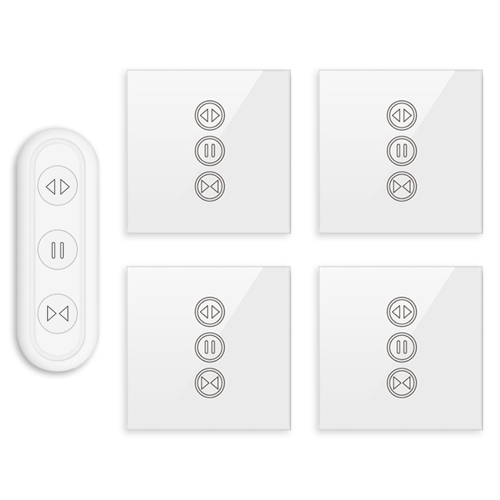 Smart Home Tuya Smart Life WiFi Curtain Switch with Remote for Electric Motorized Curtain Blind Roller Shutter Voice Control
