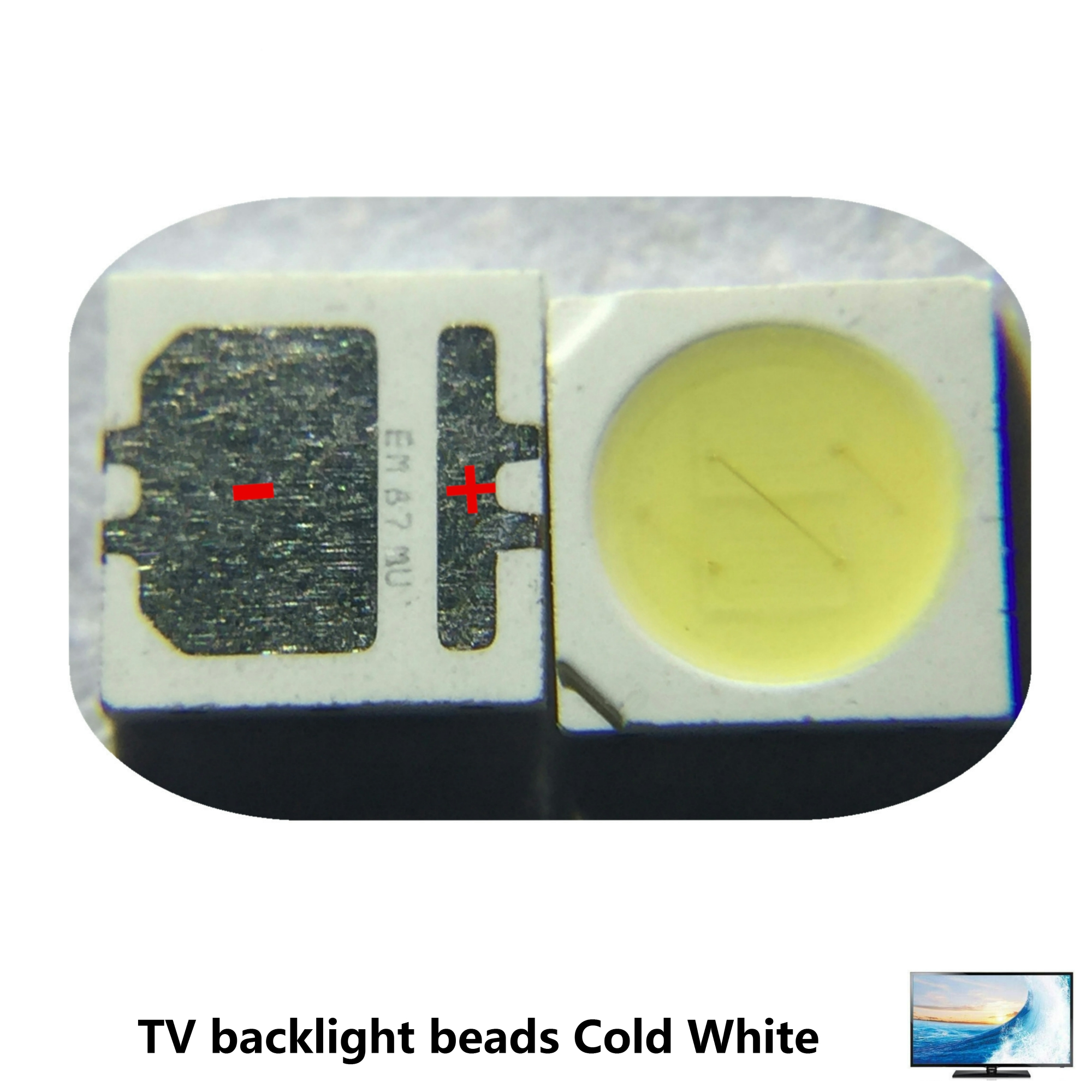 500pcs SEOUL High Power LED LED Backlight 2W 3535 6V Cool white 135LM TV Application SBWVL2S0E New and Original